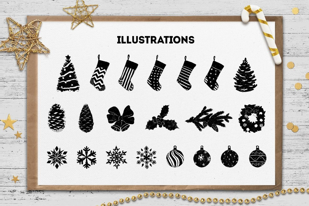 40 Winter Themed Vector Illustrations