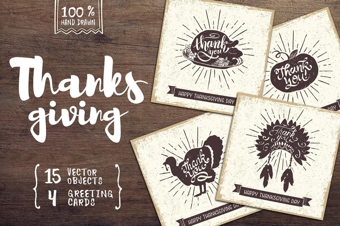 15 Thanksgiving Day Illustrations