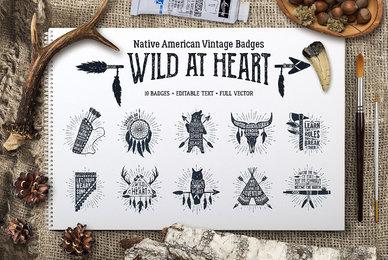 Wild at Heart Vintage Badges Part 1
