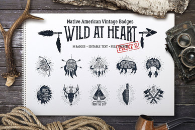 Wild At Heart Vintage Badges   v2