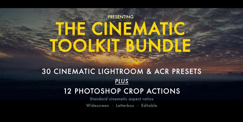 Cinematic Aspect Ratio PS Action   Lightroom Presets
