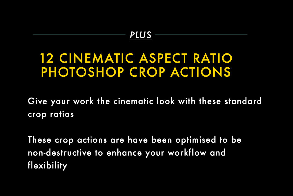 Cinematic Aspect Ratio PS Action   Lightroom Presets