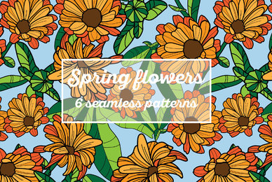 Spring Flowers Patterns