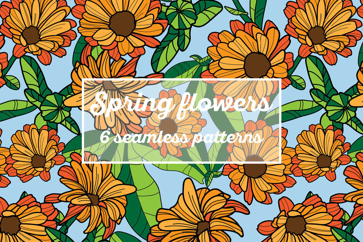Spring Flowers Patterns Graphics Youworkforthem