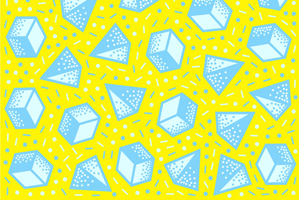 Pop 3D Geometric Patterns