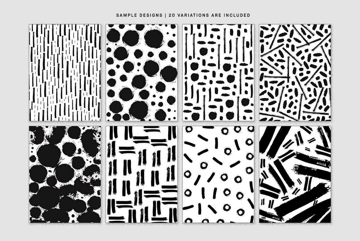 Black Ink Patterns