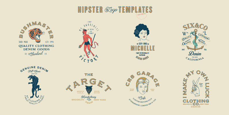 16 Hipster Logo Templates
