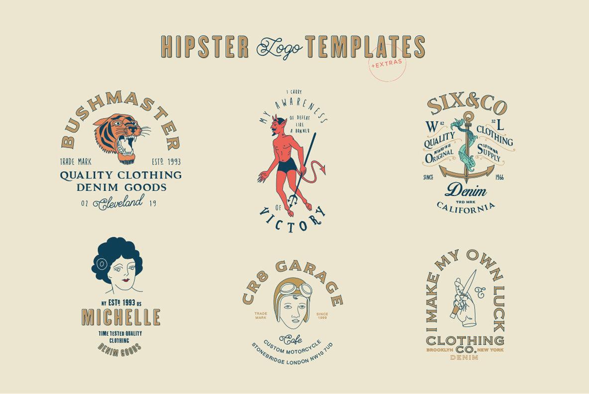 16 hipster logo templates graphics youworkforthem