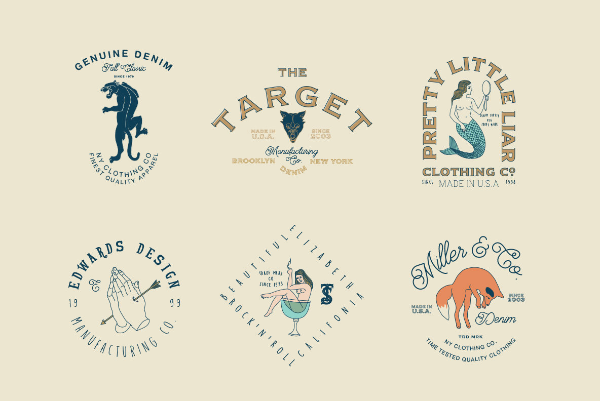 16 hipster logo templates graphics youworkforthem