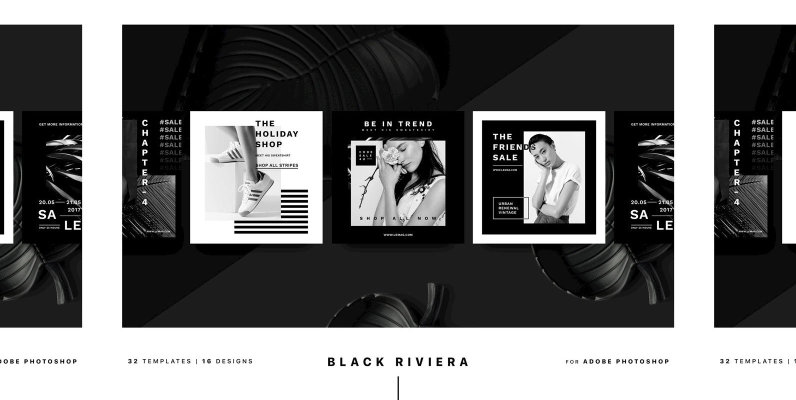 Black Riviera Social Media Pack