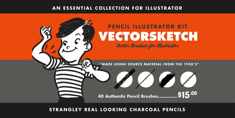 VectorSketch   Charcoal Pencils for Illustrator