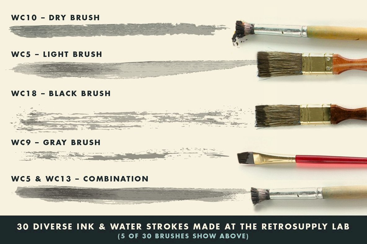 InkWash   Vector Ink and Water Brushes
