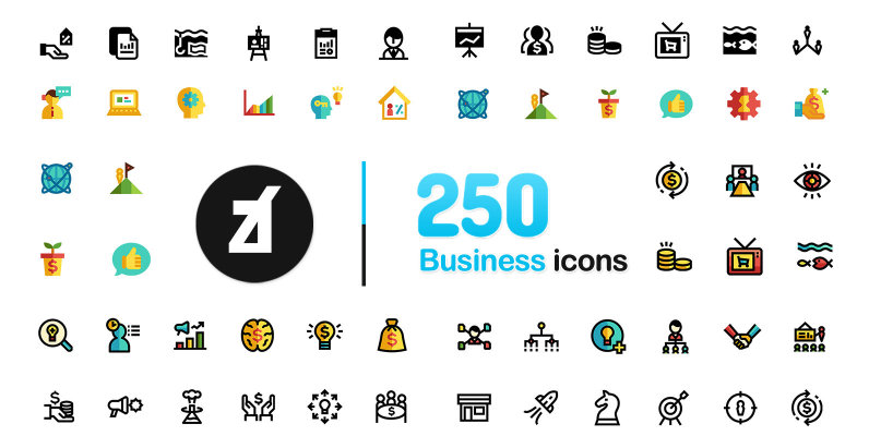 250 Business icons