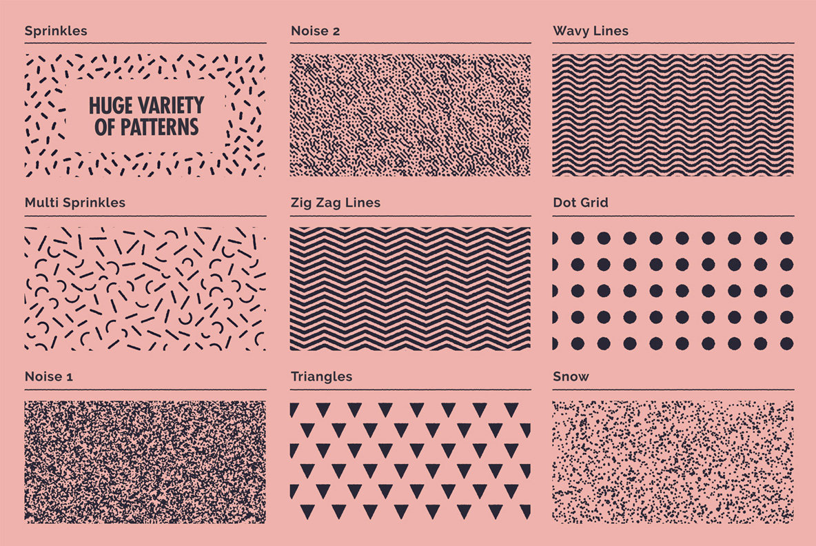 Lithotone Distressed Patterns Swatches For Illustrator