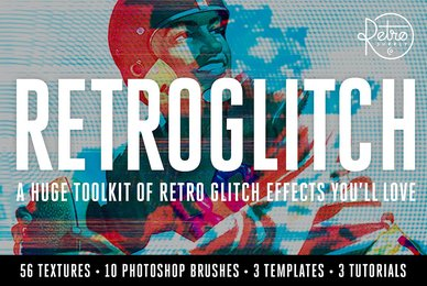 RetroGlitch   Photoshop Bundle