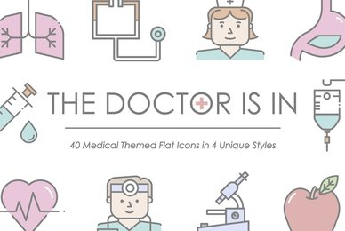 The Doctor Is In   Medical Icon Set