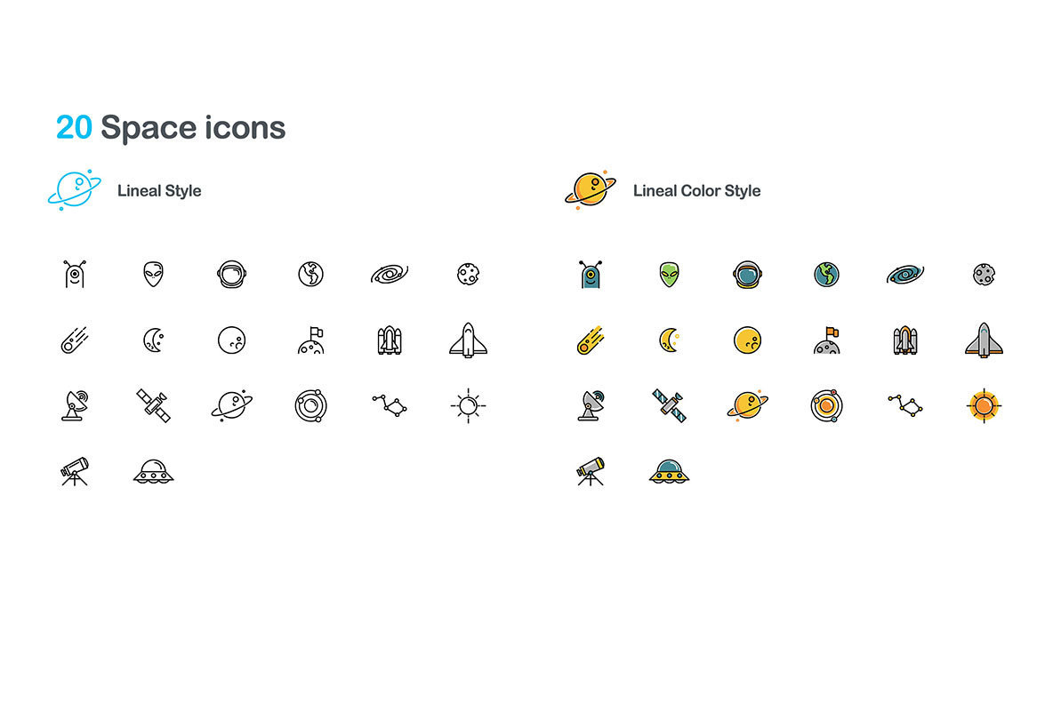 40 Space Icons