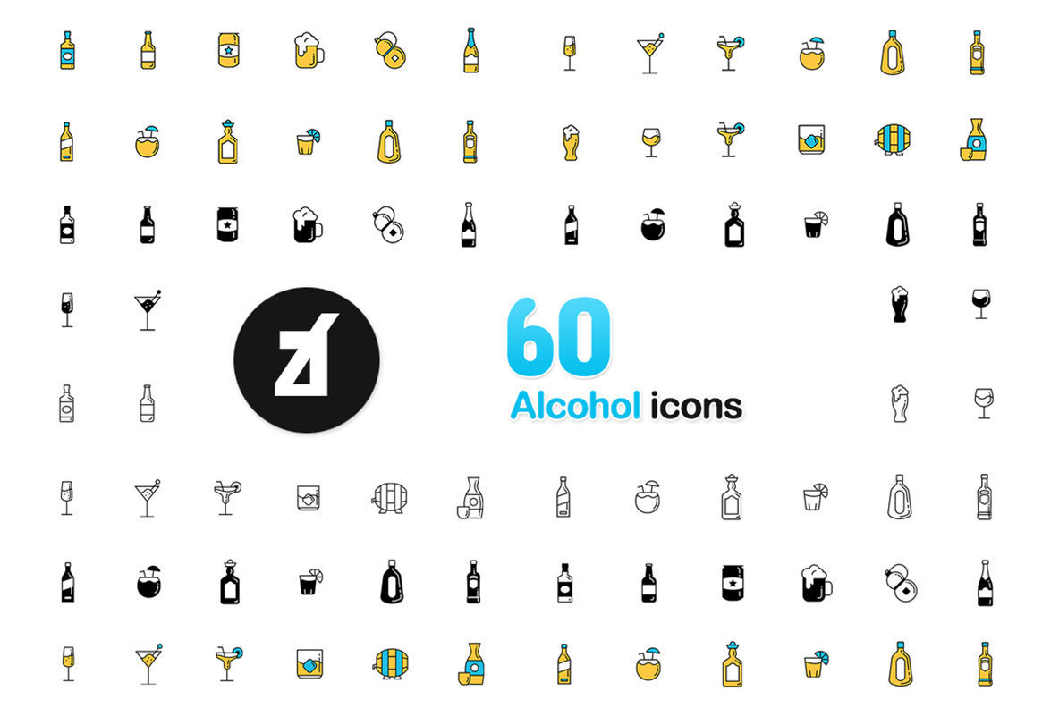 60 Alcohol icons