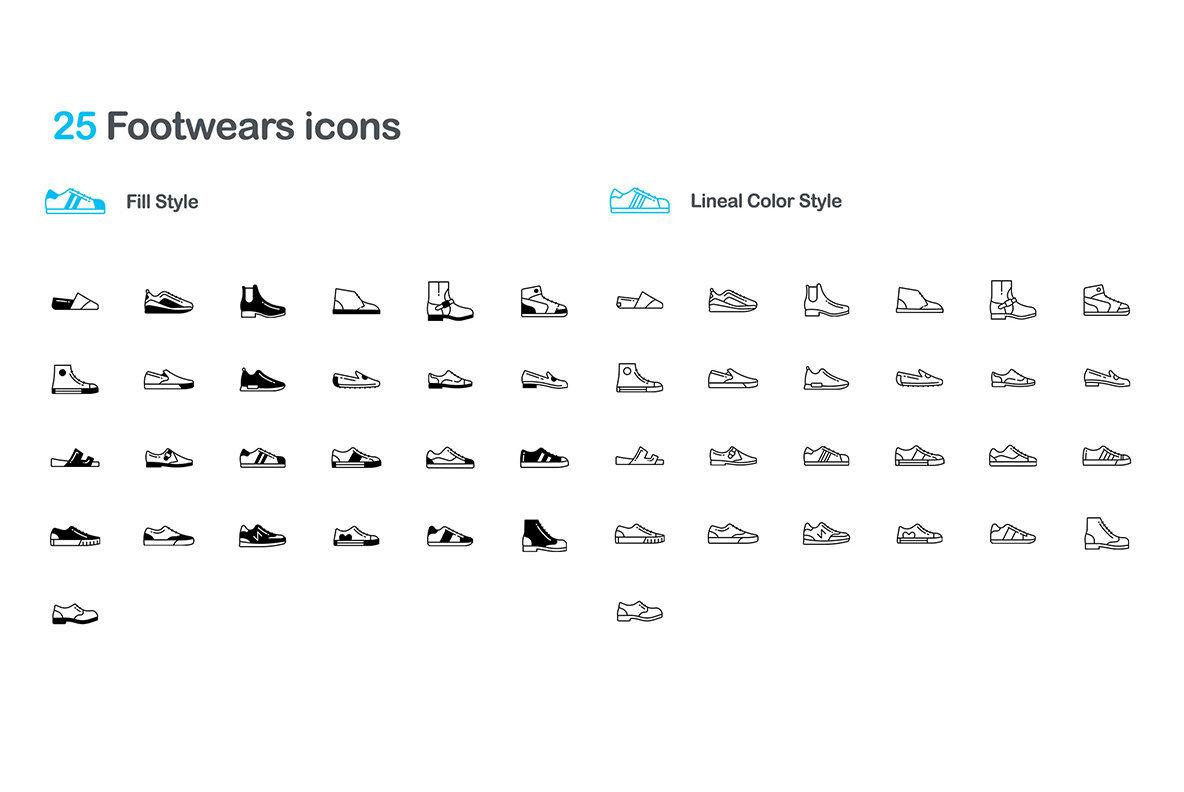 75 Footwear Icons