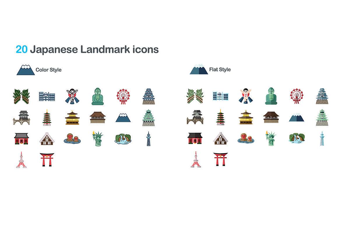 100 Landmark Icons
