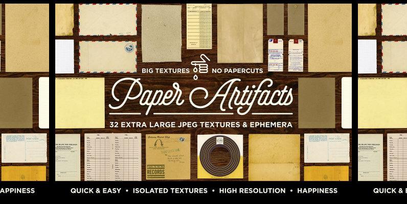 Paper Artifacts   Texture   Ephemera Bundle
