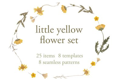 Little Yellow Flower Set