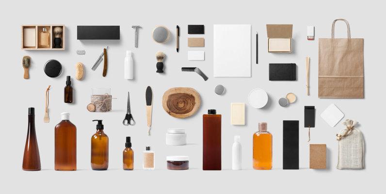 Cosmetics & Barber Mockup
