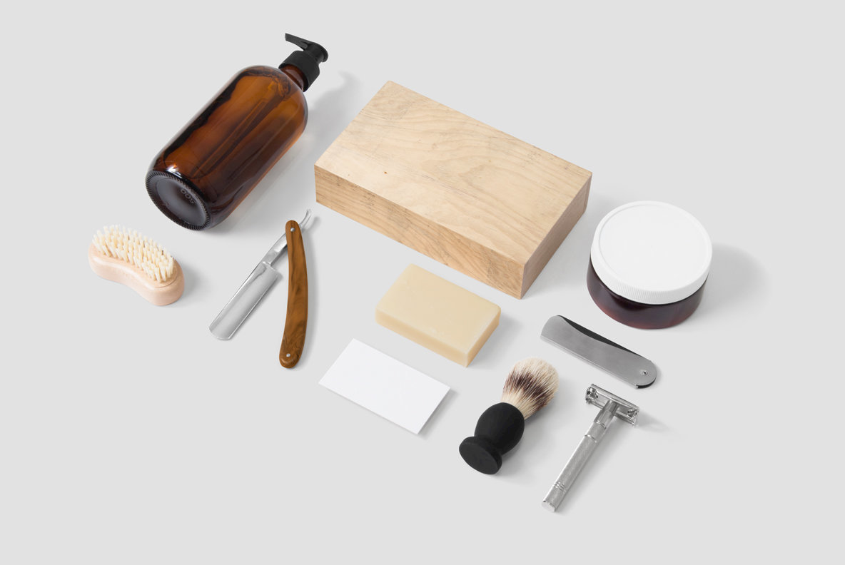 Cosmetics   Barber Mockup