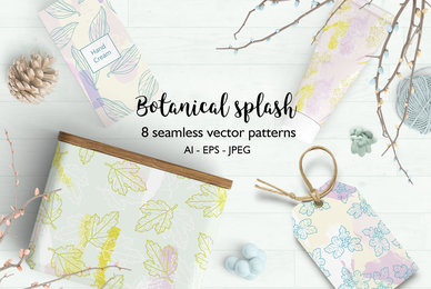 Botanical Splash Patterns