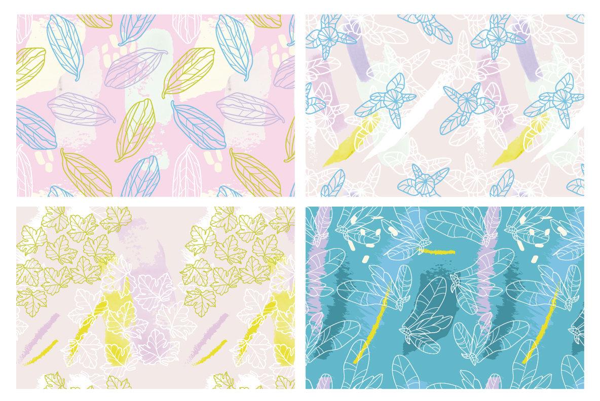 Botanical Splash Patterns