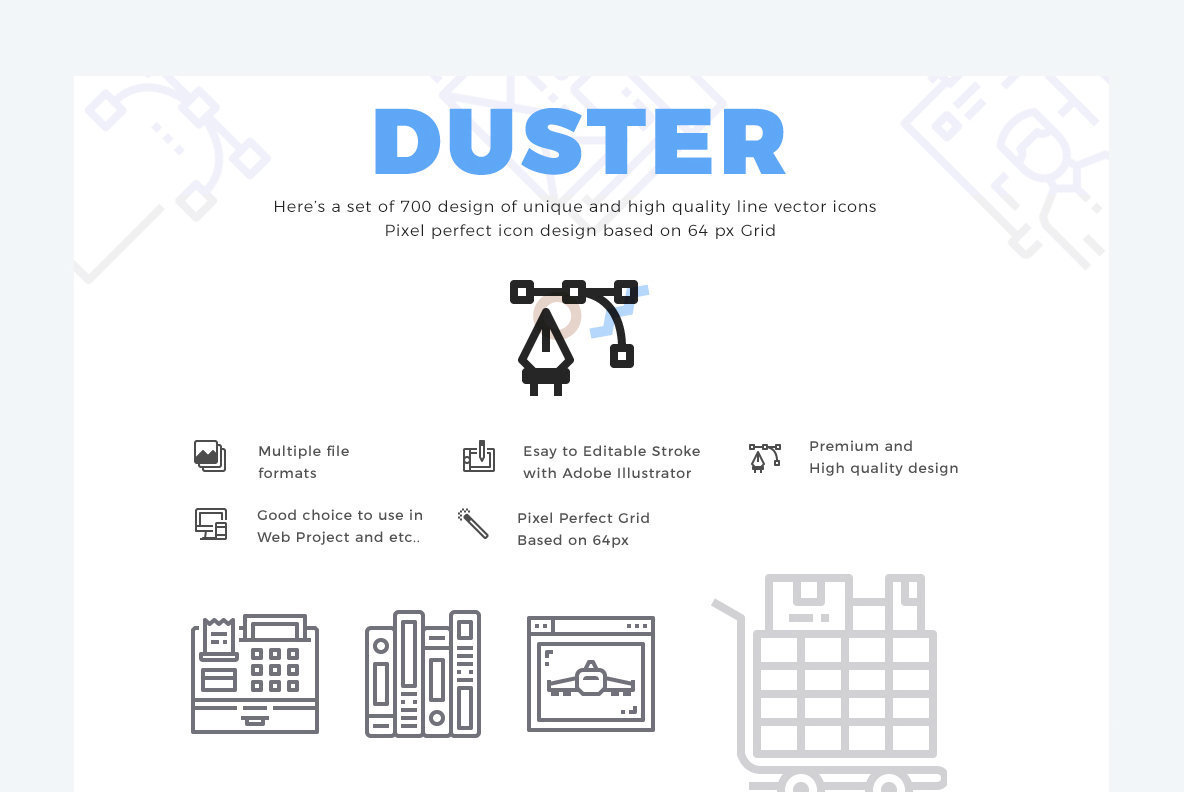 700 Duster Line Icon Collection