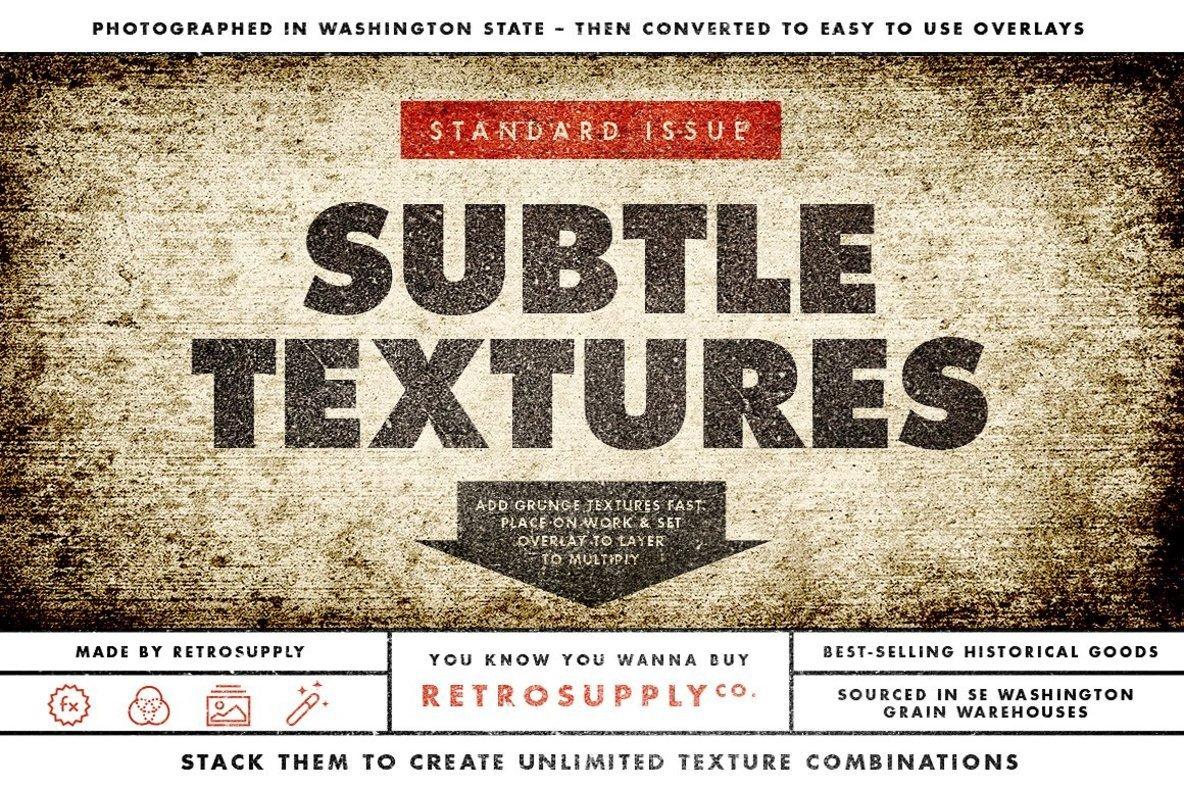 Standard Issue Grunge Overlay Textures