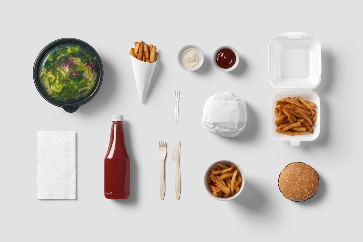 Burger Bar Branding Mockup