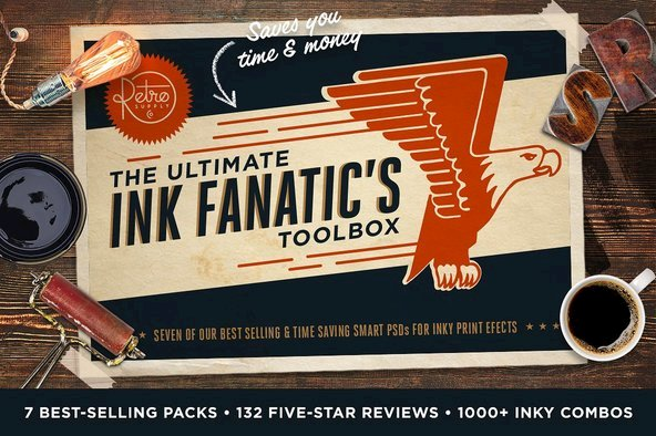 The Ink Fanatic's Bundle | PSD Kits - Extras