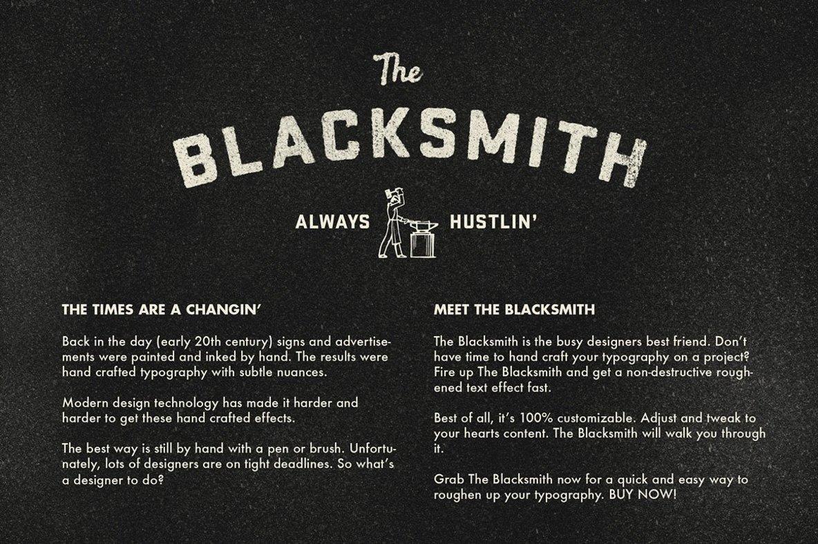 The Blacksmith   Type Roughening Action