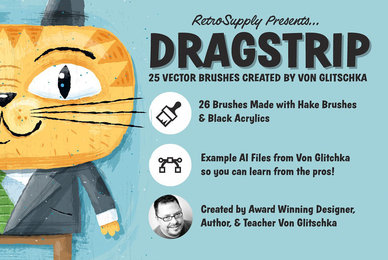 DragStrip   Illustrator Brush Kit
