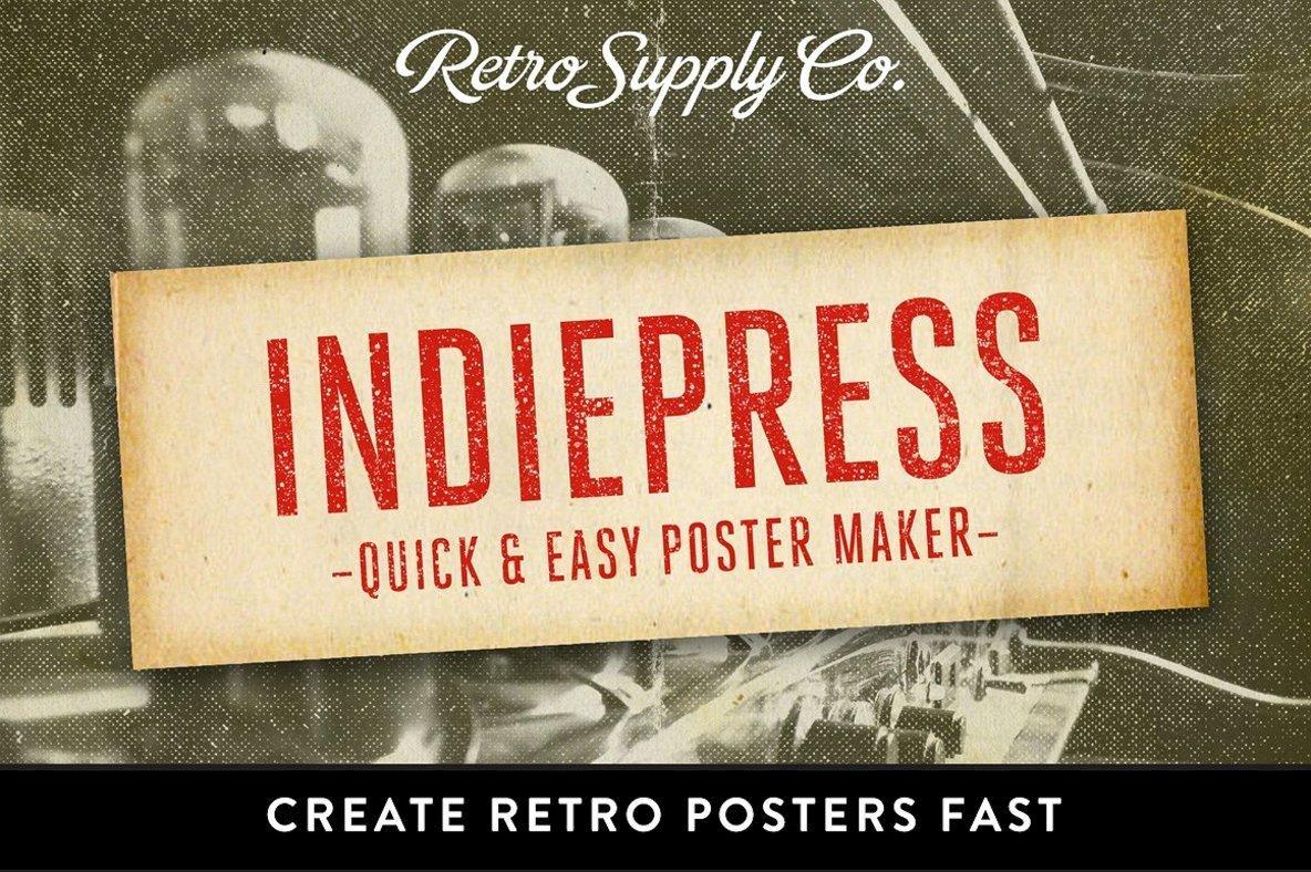 IndiePress   Vintage Poster Maker
