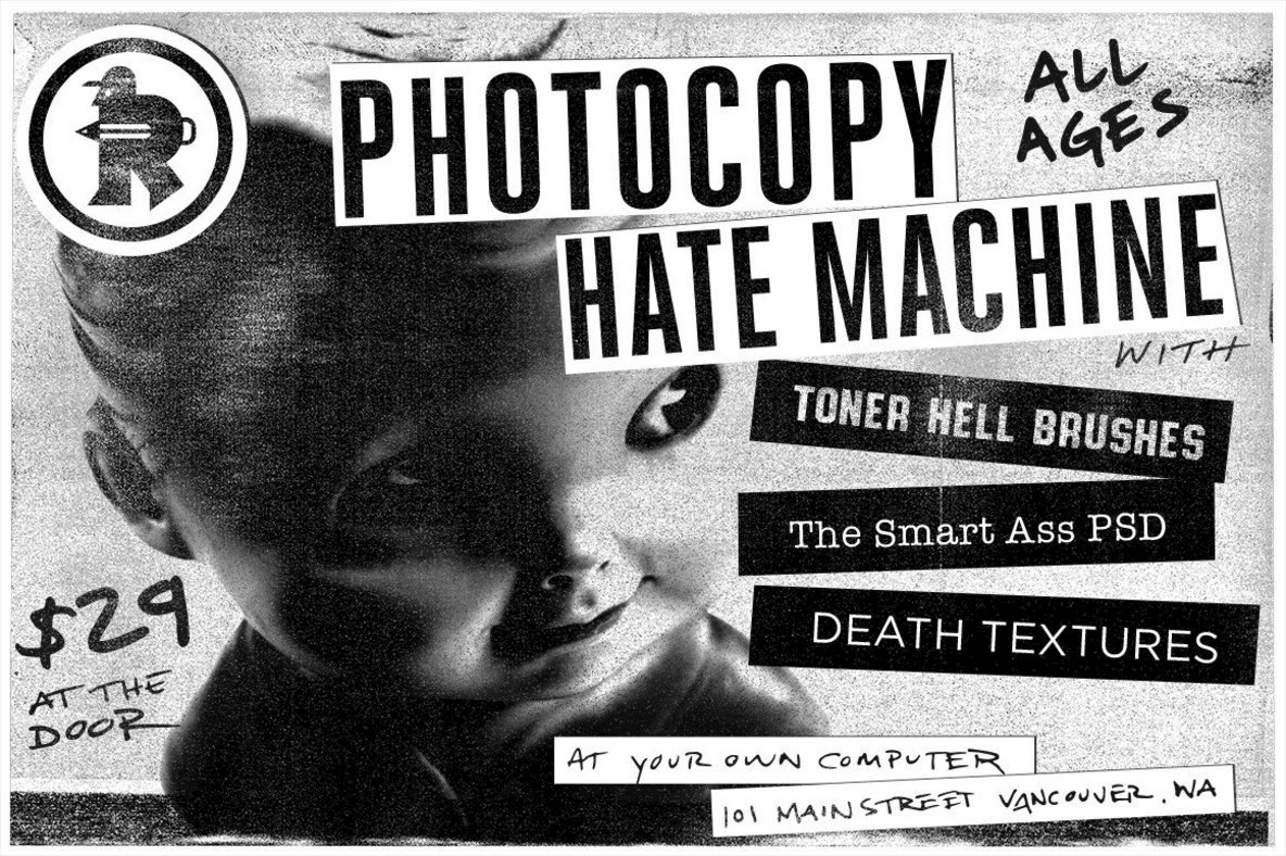 The Photocopy Hate Machine   Photoshop Bundle