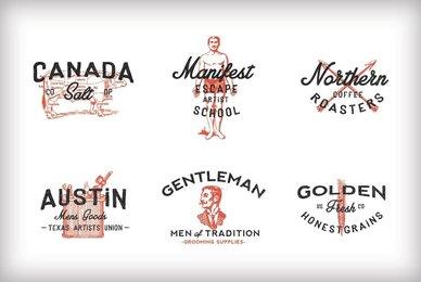 Vintage Americana Logos Vol  1