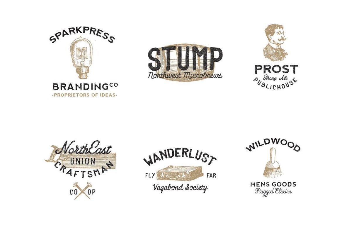 Vintage Americana Logos Vol  2