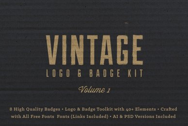 Vintage Logo Badge Kit Vol  1