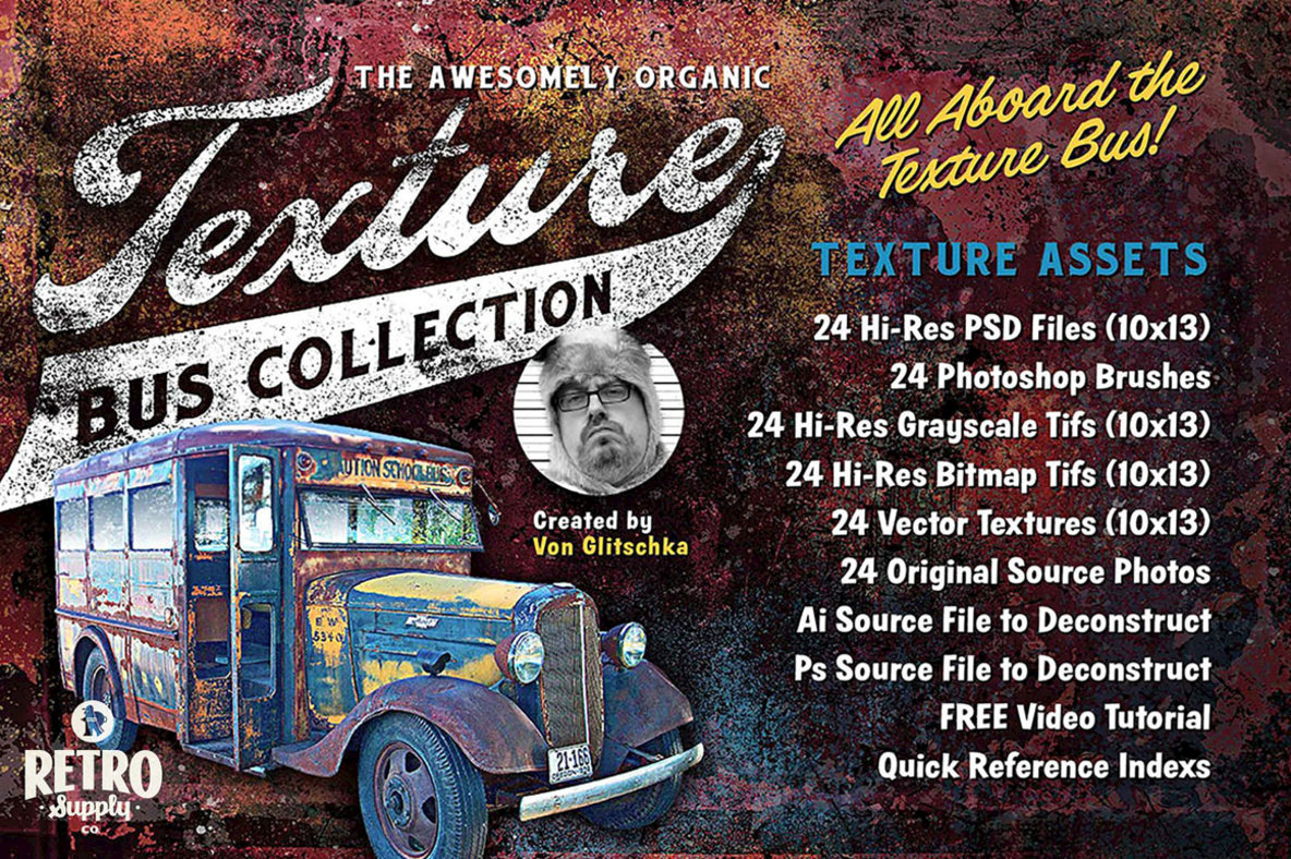 The Awesomely Organic Texture Bus Collection
