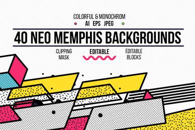 40 Neo Memphis Backgrounds