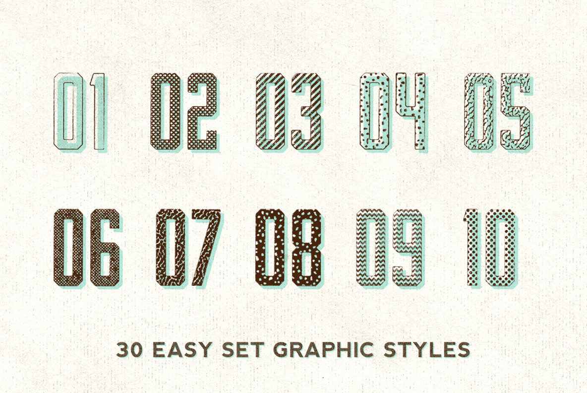 Misprint Graphic Styles for Illustrator