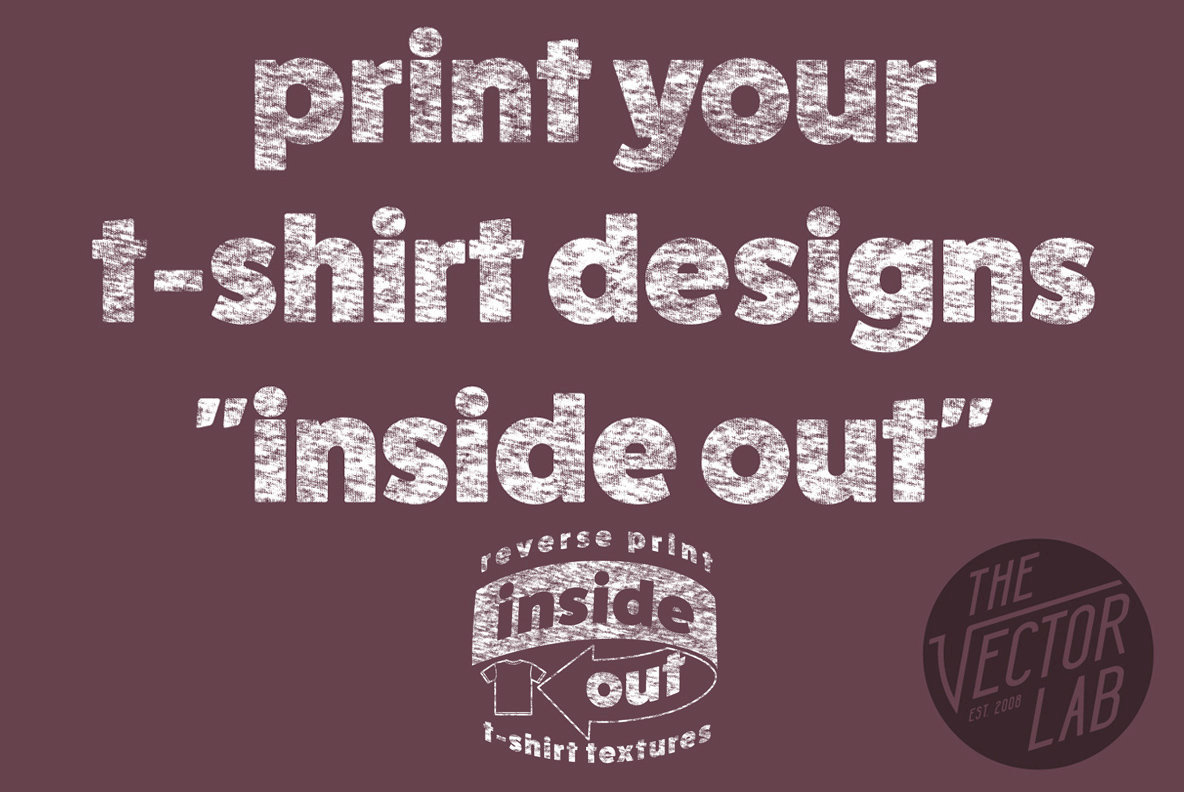 Inside Out  Reverse Print T Shirt Textures