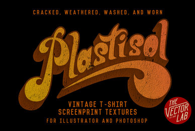 Plastisol  Vintage T Shirt Textures
