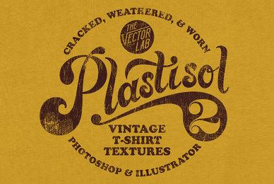 Plastisol 2 Vintage T Shirt Textures