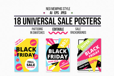 18 Universal Sale Posters   Patterns