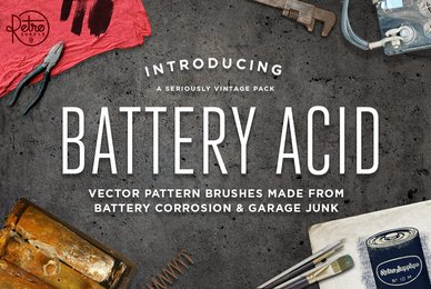 Battery Acid Vector Brushes