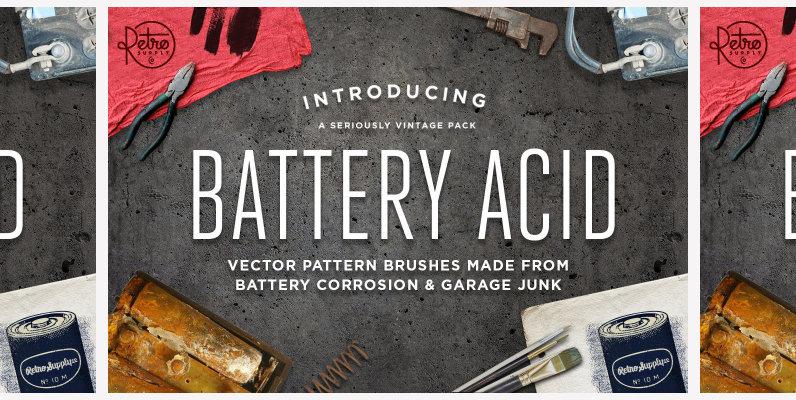 Battery Acid Vector Brushes